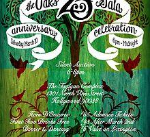 The Oaks School 25th Anniversary Poster by Luke Massman-Johnson