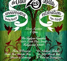 The Oaks School 25th Anniversary Poster by Luke Massman-Johnson