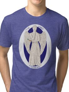 The angel's got the screwdriver! Tri-blend T-Shirt