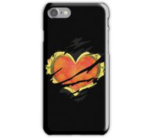 Heart Container tearing through shirt = Dark Heart iPhone Case/Skin