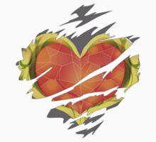 Heart Container tearing through shirt = Dark Heart Kids Tee