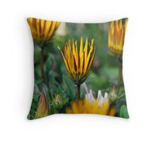 Opening Flowers  Throw Pillow