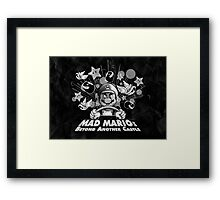 Mad Mario: Beyond Another Castle Framed Print