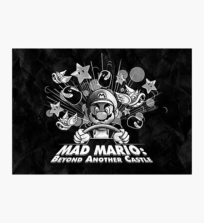 Mad Mario: Beyond Another Castle Photographic Print