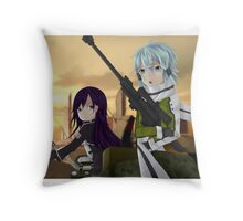 Sword Art Online 2 Shino and Kirito Throw Pillow