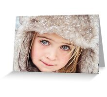 Little Snow Princess Greeting Card