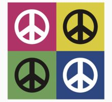 """Peace """" Multicolored Peace Signs """" Kids Clothes"""
