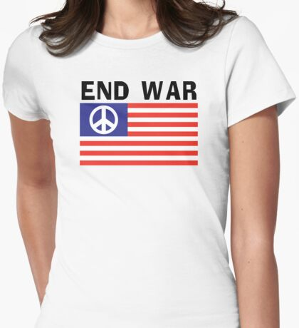 Peace Flag T-Shirt Womens Fitted T-Shirt