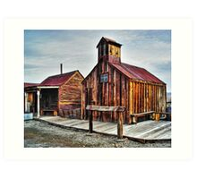 Old West Hitching Post HDR Art Print
