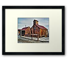 Old West Hitching Post HDR Framed Print