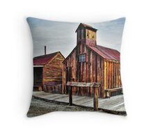 Old West Hitching Post HDR Throw Pillow