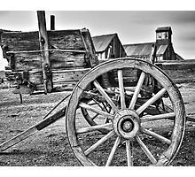 Old West Wagon Photographic Print