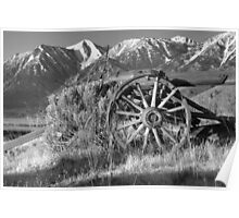 Old Wagon Near Jobs Peak Poster