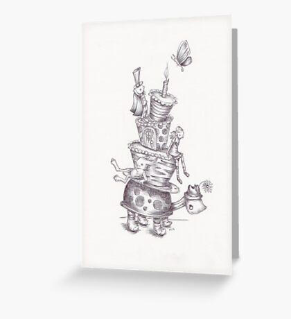 Monster Tower V Greeting Card