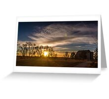 Farming an Early Morning Sunrise Greeting Card