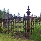 1850's Wrought Iron Grave Plot Fence by Martha Medford