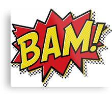 Bam! Comic Book Effect Metal Print