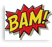 Bam! Comic Book Effect Canvas Print