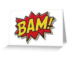 Bam! Comic Book Effect Greeting Card