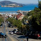 Alcatraz from Hyde Street Cable Car by Yukondick