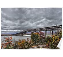 Newburgh / Beacon Bridge Before The Storm Poster