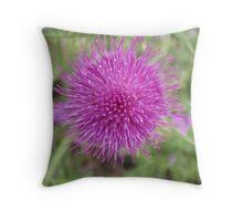 Macro Flower Throw Pillow