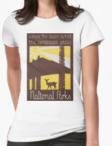 Vintage poster - National parks Womens Fitted T-Shirt