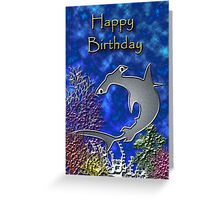 Happy Birthday Hammerhead Shark Greeting Card