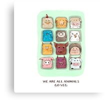 We are all animals, go veg!  Metal Print