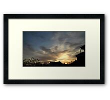 Feb. 5 2013 Sunset 6 Framed Print