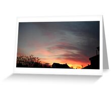 Feb. 5 2013 Sunset 10 Greeting Card