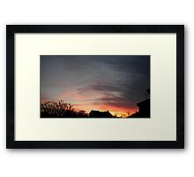 Feb. 5 2013 Sunset 11 Framed Print