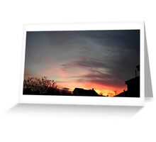 Feb. 5 2013 Sunset 11 Greeting Card
