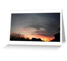 Feb. 5 2013 Sunset 12 Greeting Card