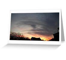 Feb. 5 2013 Sunset 13 Greeting Card