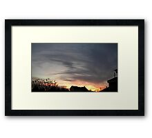 Feb. 5 2013 Sunset 14 Framed Print