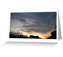 Feb. 5 2013 Sunset 15 Greeting Card