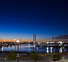 Night time looking out over Docklands and the Bolte!  by dsi-photography