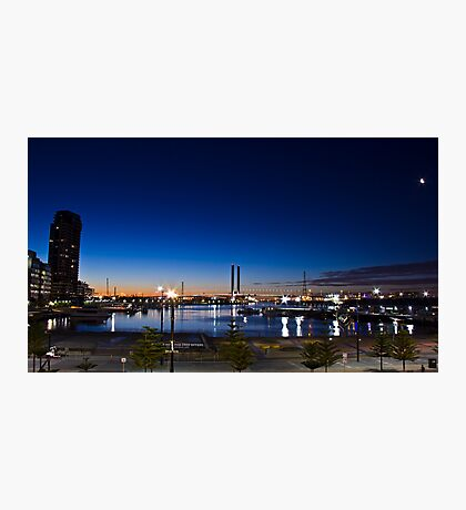 Night time looking out over Docklands and the Bolte!  Photographic Print