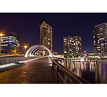 Webb Bridge, Docklands. Photographic Print