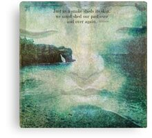 Buddha saying about letting go of the past  Canvas Print