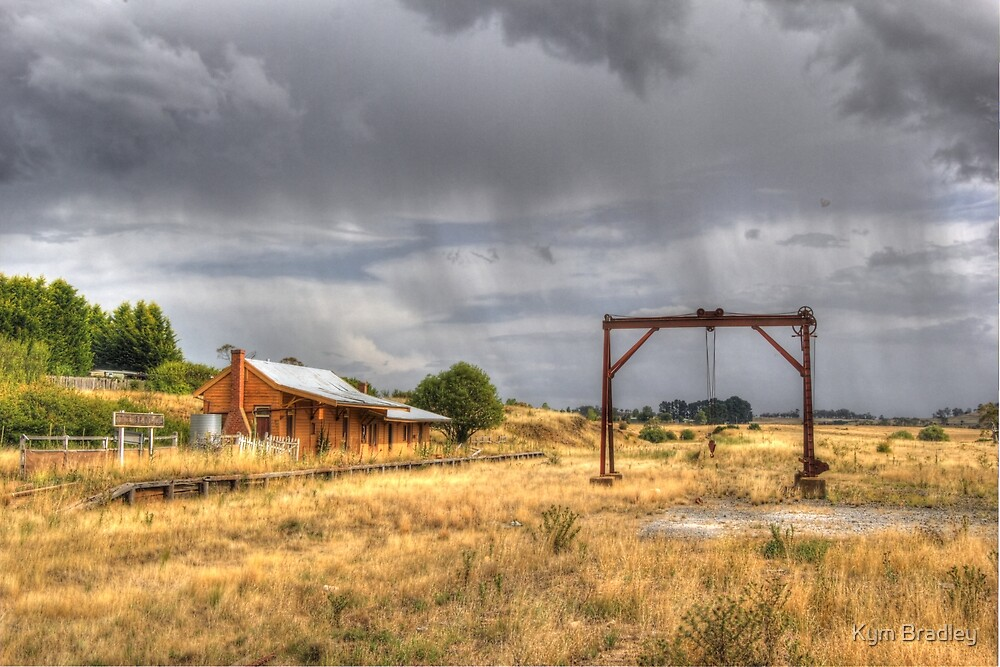 View of Nimmitabel Railway Station from Goods Shed  NSW  by Kym Bradley