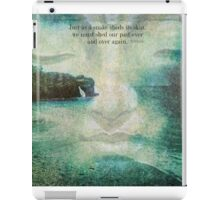 Buddha saying about letting go of the past  iPad Case/Skin