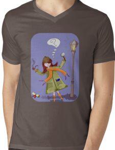 Little Detective Mens V-Neck T-Shirt