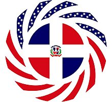 Dominican American Multinational Patriot Flag Series Photographic Print