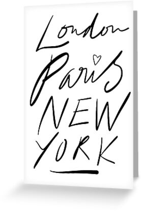 London. Paris. New York. by TheLoveShop