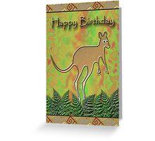 Happy Birthday Kangaroo Greeting Card