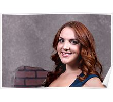 Woman Red Hair Poster