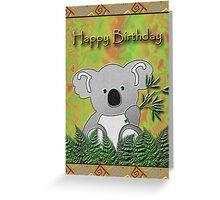 Happy Birthday Koala Bear Greeting Card