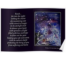 Reach for the Stars - Poetry in Art Poster